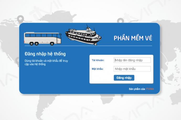 Phần mềm quản lý bán vé xe khách, vé tàu cánh ngầm